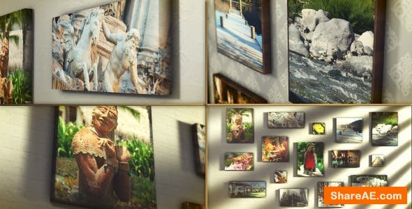 Videohive Canvas Wrap Photo Gallery