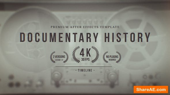 Videohive Documentary History Timeline