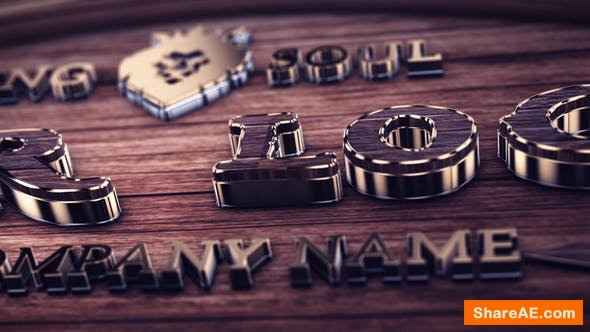 Videohive Wood And Gold Logo