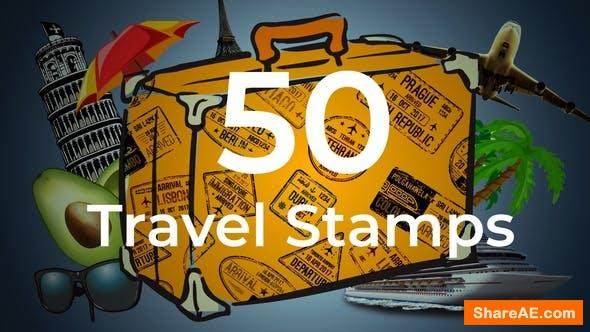 Videohive 50 Travel Stamps