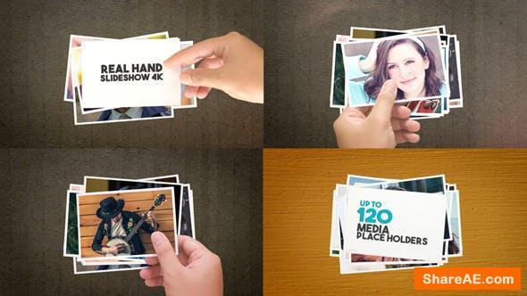 Videohive Real Hand Slideshow 4K