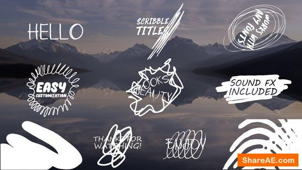 Videohive Cartoon Scribble Titles | After Effects + MOGRT
