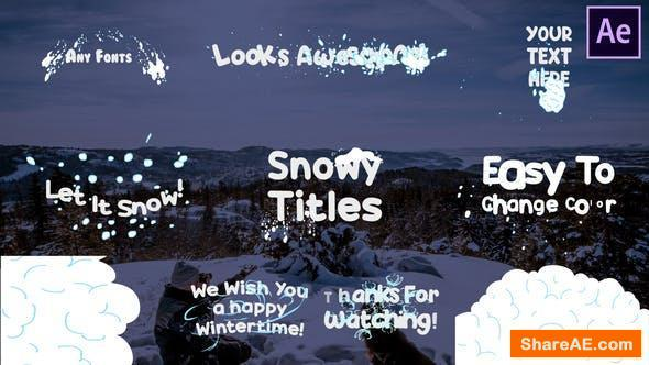 Videohive Snow Titles | After Effects