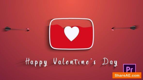 Videohive Valentines Day (Youtube Logo) - Premiere Pro
