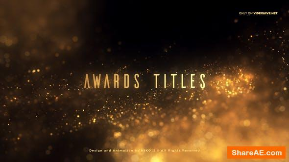 Videohive Golden Glitter Particles Titles