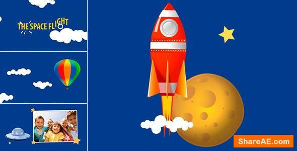 Videohive Space Flight