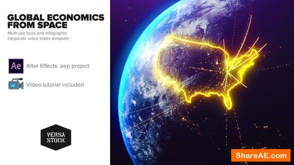 Videohive Global Economics From Space Infographics