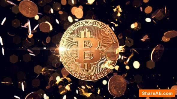Videohive Bitcoin logo reveal