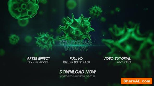 Videohive Corona Virus Titles l Virus Opener l Medical Template l Healthcare Presentation