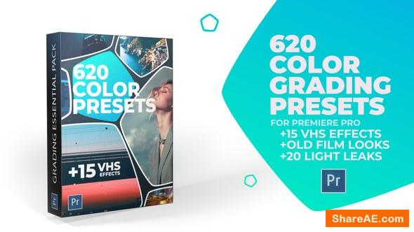 Videohive 620 Cinematic Color Presets, 15 VHS Video Effects, Old Film Looks - Premiere Pro