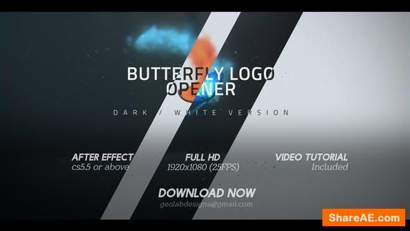 Videohive Butterfly Logo Opener l Elegant Logo Opener l Flipping Wings Logo Opener