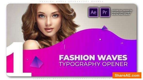 Videohive Fashion Waves Typography Opener - Premiere Pro