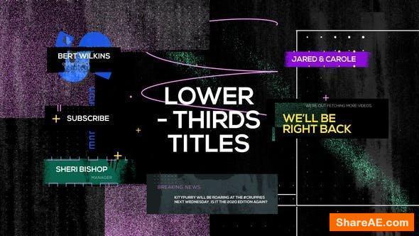 Videohive Grunge Distortion Title Reveals - Premiere Pro