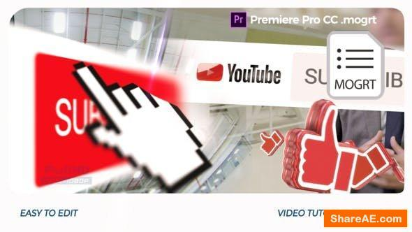 Videohive YouTube Opener // Premiere Pro | Mogrt