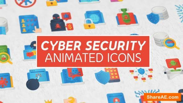 Videohive Cyber Security Modern Flat Animated Icons