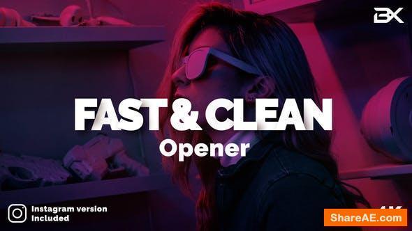 Videohive Fast & Clean Opener