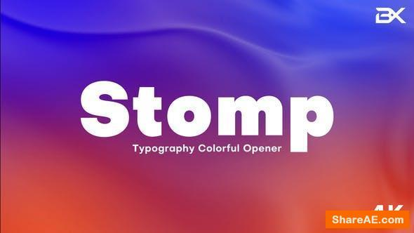 Videohive Stomp Colorful Opener