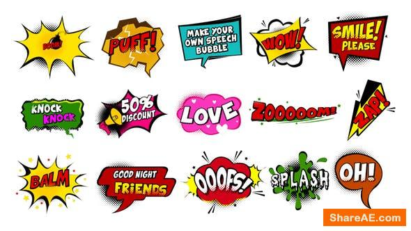 Videohive Comic Speech Bubbles