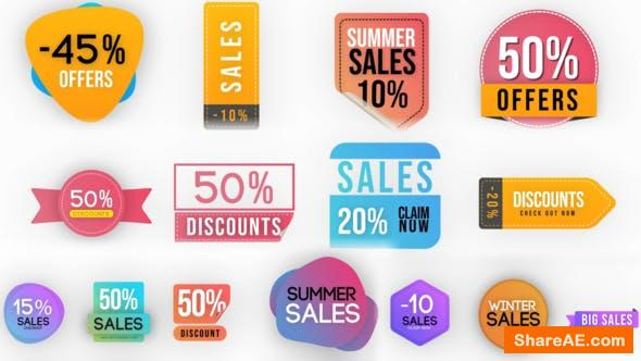 Videohive Sales Badges Elements Pack