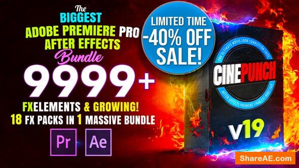 Videohive CINEPUNCH - Transitions I Color LUTs I Pro Sound FX I 9999+ VFX Elements Bundle