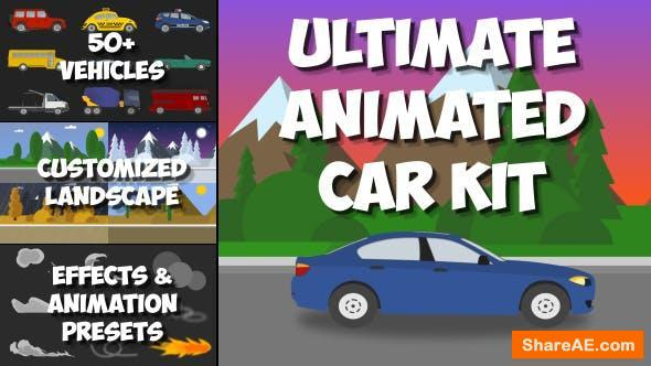 Videohive Ultimate Animated Car Kit