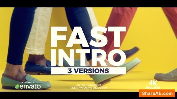 Videohive Fast Intro 21327259