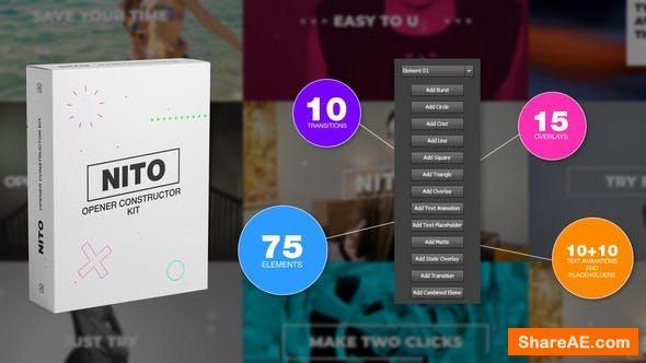 Videohive NITO - Opener Element Constructor Pack