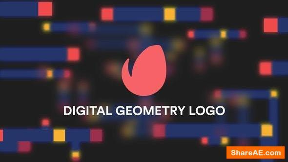 Videohive Digital Geometry Logo Reveal