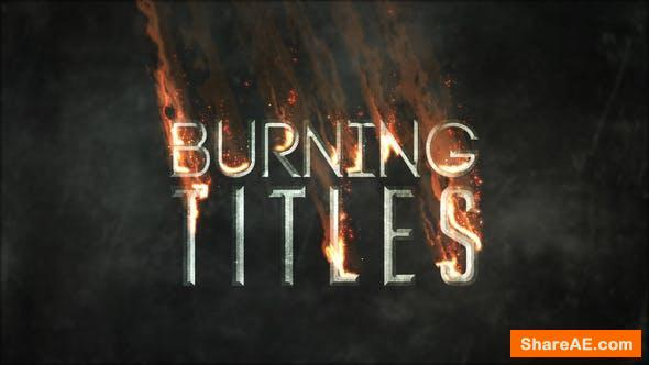Videohive Burning TItles