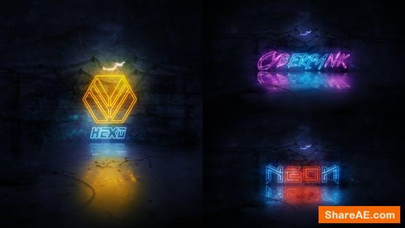Videohive Neon Logo Reveal 22912859