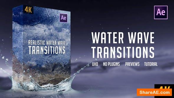 Videohive Realistic Water Wave Transitions | 4K