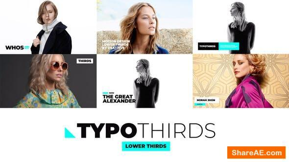 Videohive Typothirds - Lower Thirds Pack