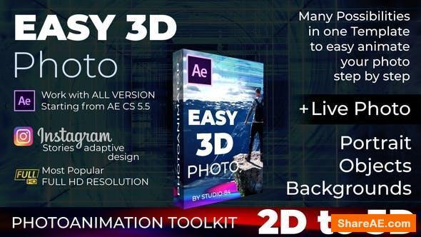 Videohive Easy 3D Photo - Photo animator