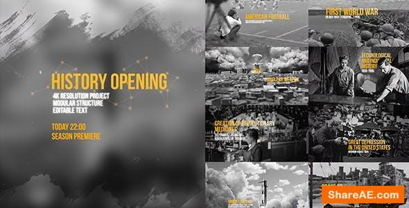 Videohive World History Opening/ USA Historical Intro/ World War/ 3D Photo Camera Move/ Black and White TV ID