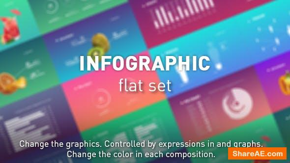 Videohive Infographic flat set