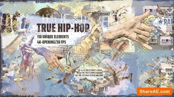 Videohive True Hip-Hop 4K Intro/ Hands/ Gangsta Rapper/ Urban City/ Music / Grunge/ Underground Rap/ Boombox