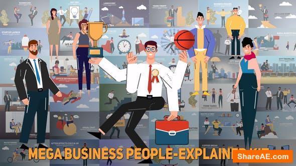 Videohive Mega Business People-Explainer Kit