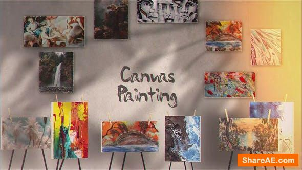 Videohive Canvas Painting Gallery