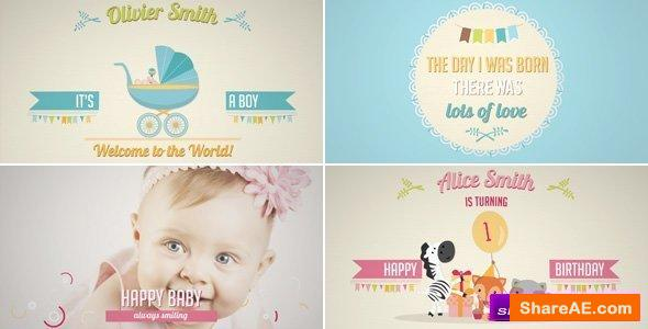after effects baby birthday projects free download