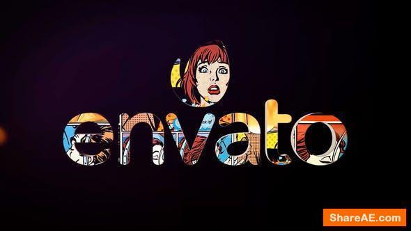 Videohive 3D Comic Logo Reveal