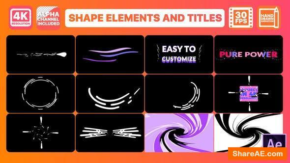 Videohive Dynamic Shapes And Titles | After Effects 25844321