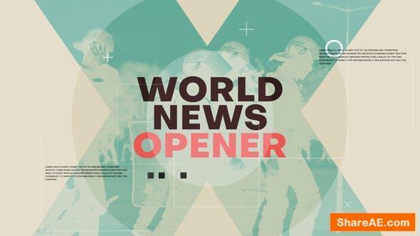 Videohive World News Opener 25773059