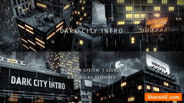Videohive Dark City Intro
