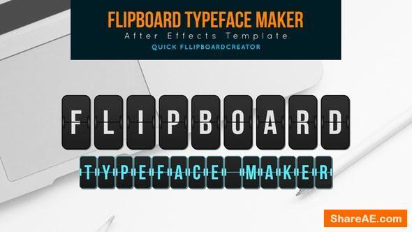 Videohive Flip board Typeface Maker