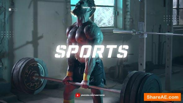 Videohive Sport Youtube Channel Opener / Glitch Fitness and Workout