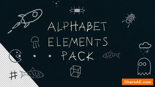 Videohive Alphabet Elements