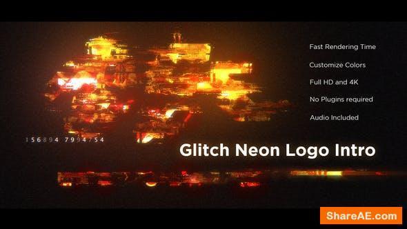 Videohive Glitch Neon Logo Intro