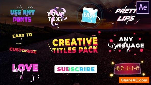 Videohive Creative Titles | After Effects