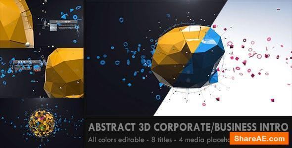 Videohive Abstract 3D Corporate Business Intro
