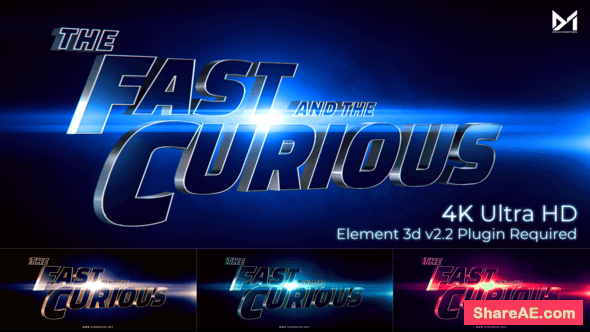 Videohive Cinematic Title Trailer_Fast and the curious